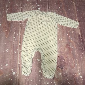 Nordstrom Baby One Pieces - Nordstrom Baby Soft Polka Dot Open Foot One Piece